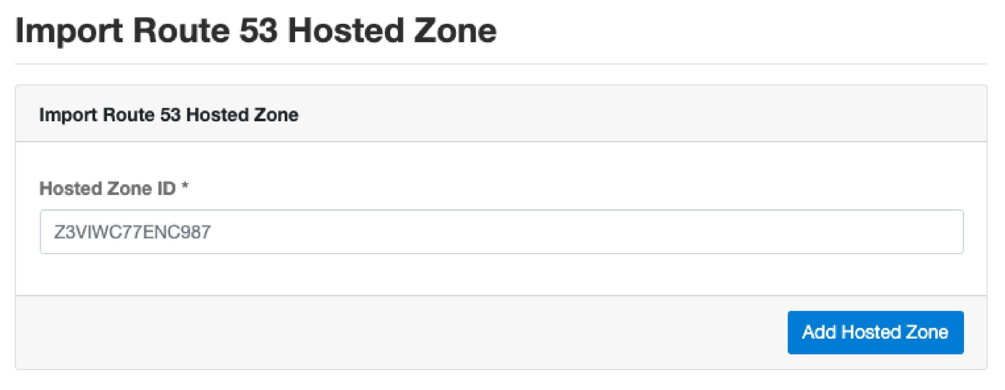 Import Route 53 Hosted Zone on CloudPanel