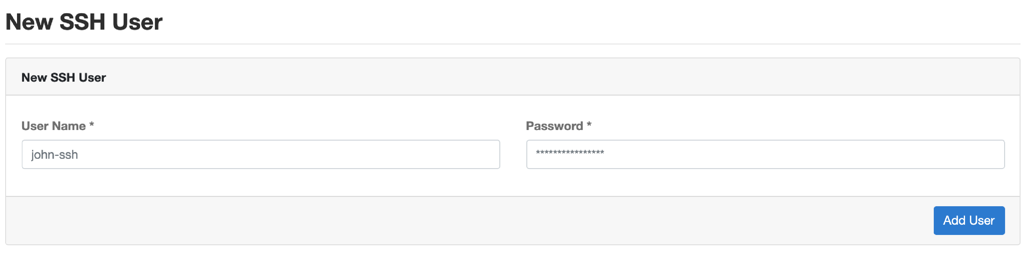 CloudPanel User Management SSH/SFTP Users